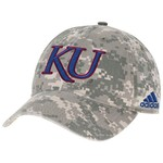 adidas™ Men's University of Kansas Digital Camo Adjustable Slouch Cap
