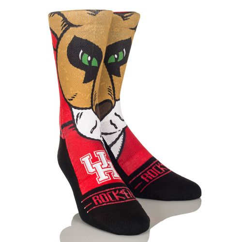 Rock 'Em Apparel Men's University of Houston Shasta Mascot Socks