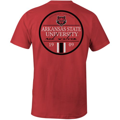 Image One Men's Arkansas State University Simple Circle Lines T-shirt