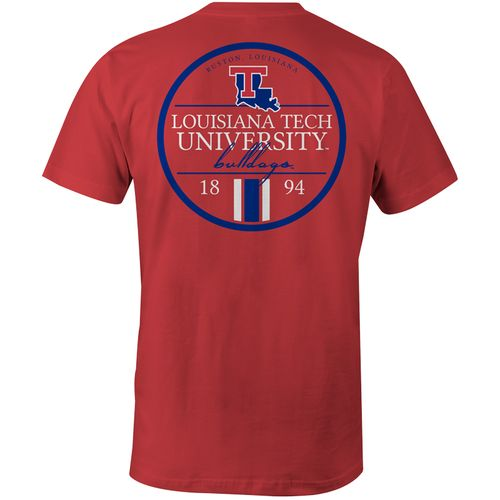 Image One Men's Louisiana Tech University Simple Circle Lines T-shirt