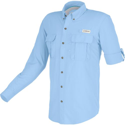 Magellan Outdoors Men's Laguna Madre Solid Long Sleeve Fishing ...