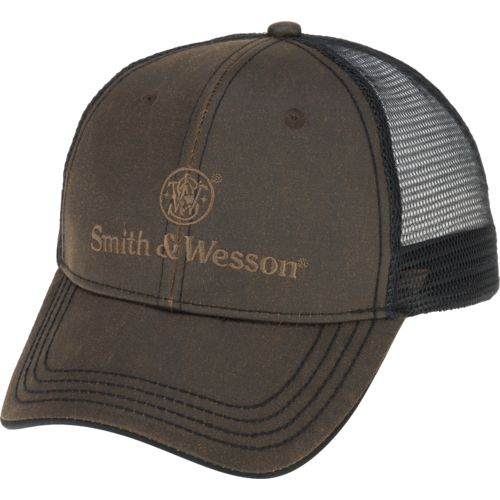Smith & Wesson Men's Faux Leather Stacked Logo