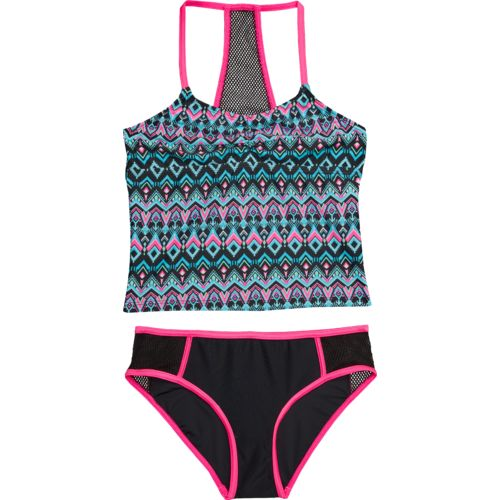 O'Rageous Kids Girls' Deco Diamond 2-Piece Tankini Swimsuit