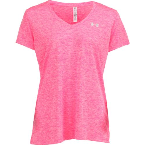 Workout shirts for women athletic shirts academy for Under armour women s twisted tech t shirt
