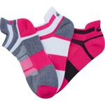 ASICS® Women's Quick Lyte™ Cushioned Single Tab Ankle Socks 3 Pairs - view number 3