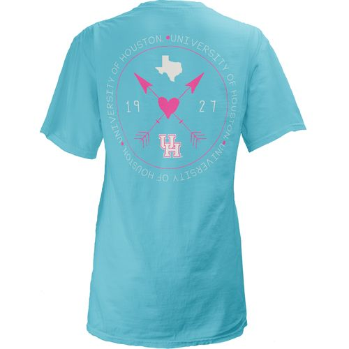 Three Squared Juniors' University of Houston Boho Arrow Pocketed T-shirt
