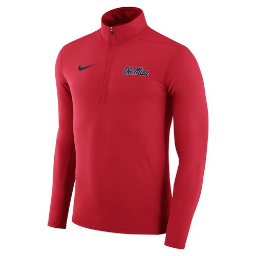 Nike™ Men's University of Mississippi Element 1/4 Zip Pullover - view number 1
