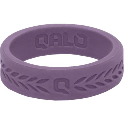 QALO Women's Laurel Q2X Flat Silicone Wedding Ring