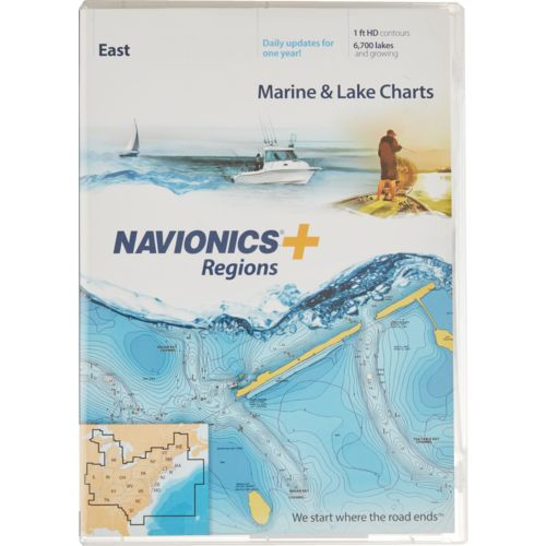 Navionics Regions East Region Marine and Lake Charts and Maps - view number 1