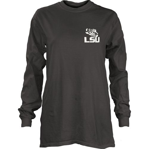 Three Squared Juniors' Louisiana State University Tower Long Sleeve T-shirt - view number 2
