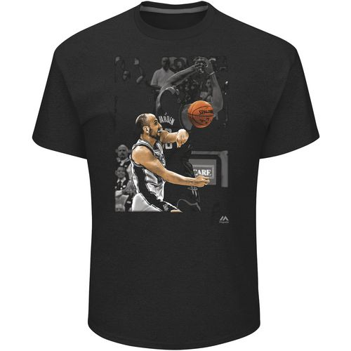 Majestic Athletic Men's San Antonio Spurs Manu Ginobili The Block T-shirt