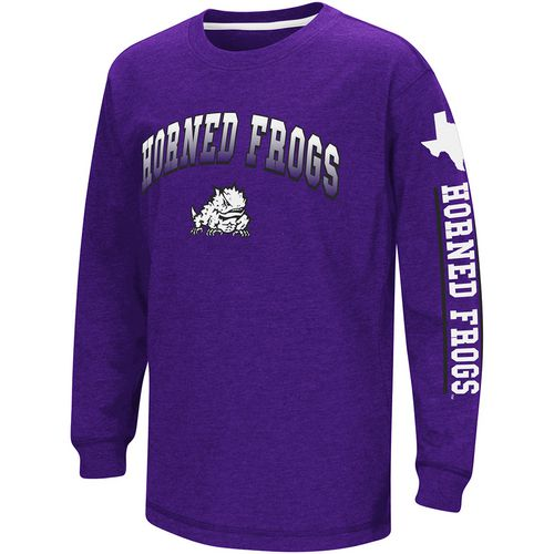 Colosseum Athletics Boys' Texas Christian University Grandstand Long Sleeve T-shirt
