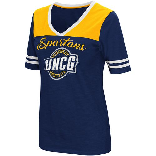 Colosseum Athletics Women's University of North Carolina at Greensboro Twist 2.1 V-Neck T-shirt