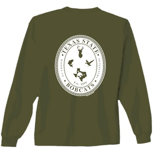 New World Graphics Men's Texas State University Crossed Oval Long Sleeve T-shirt