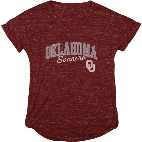 Blue 84 Women's University of Oklahoma Dark Confetti V-neck T-shirt