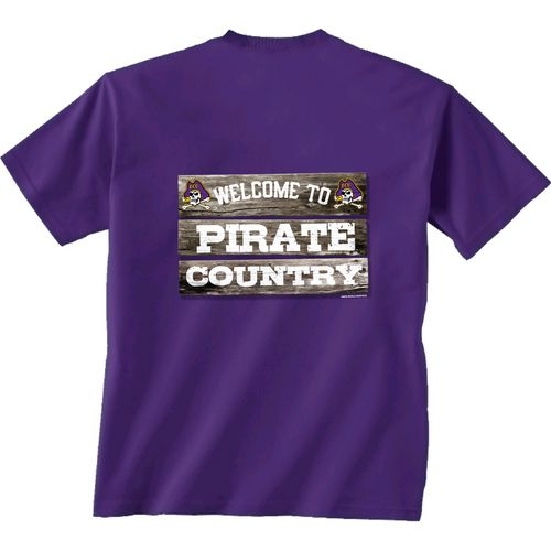 New World Graphics Men's East Carolina University Welcome Sign T-shirt