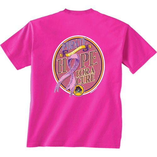 New World Graphics Women's East Carolina University Breast Cancer Hope T-shirt