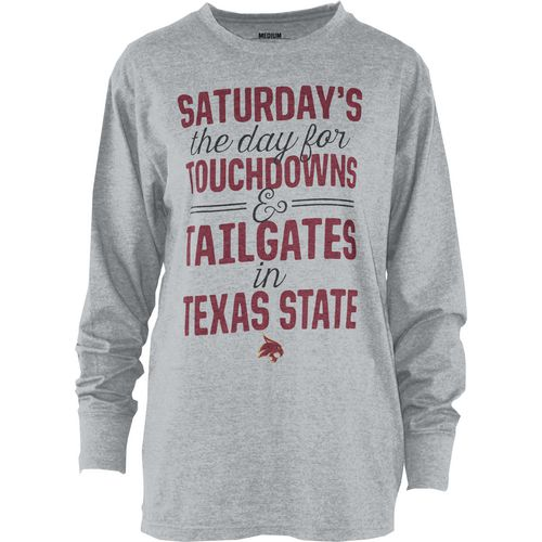 Three Squared Juniors' Texas State University Touchdowns and Tailgates T-shirt