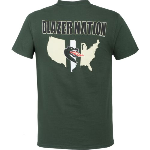 New World Graphics Men's University of Alabama at Birmingham Stripe Nation T-shirt