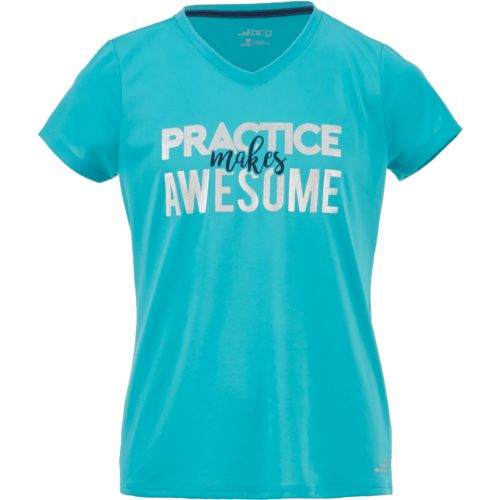 Display product reviews for BCG Girls' Practice Makes Awesome Short Sleeve T-shirt