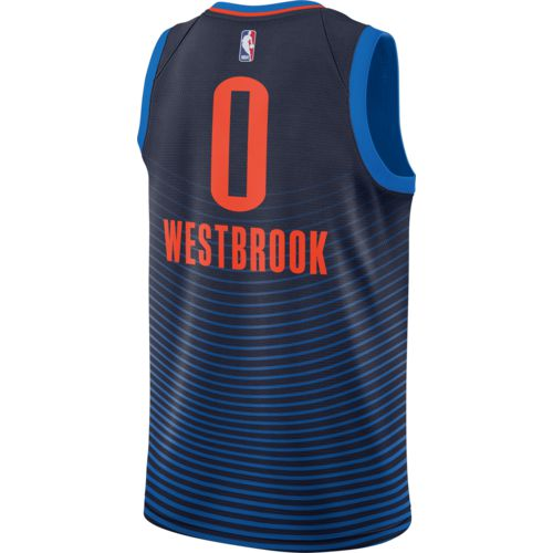 Nike Men's Oklahoma City Thunder Russell Westbrook Icon Edition Swingman Jersey