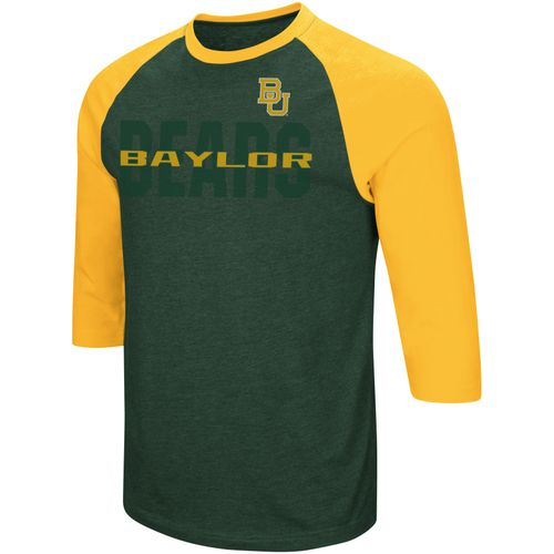 Colosseum Athletics Men's Baylor University Steal Home 3/4 Length Sleeve T-shirt