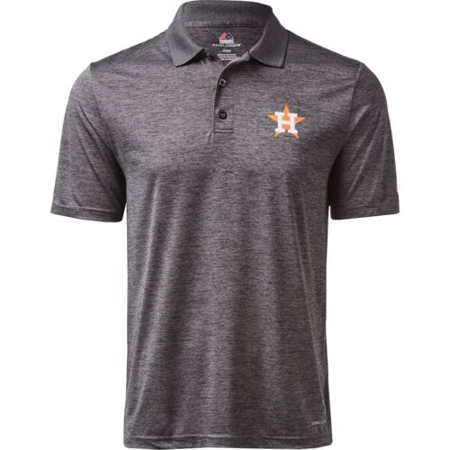 Majestic Men's Houston Astros Targeting Success 3-button Polo Shirt