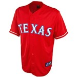 Majestic Adults' Texas Rangers Replica Alternate Baseball Jersey