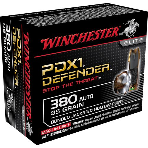 Winchester Supreme Elite™ PDX1 JHP Bonded .380 Automatic 95-Grain Handgun Ammunition