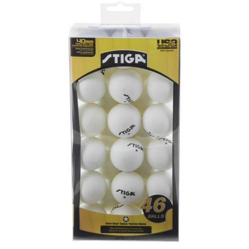 Stiga® 1-Star Table Tennis Balls 46-Ball Pack