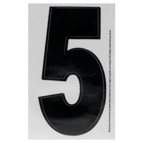 "Hardline Products® Dyer 3"" Number 5 Decal"