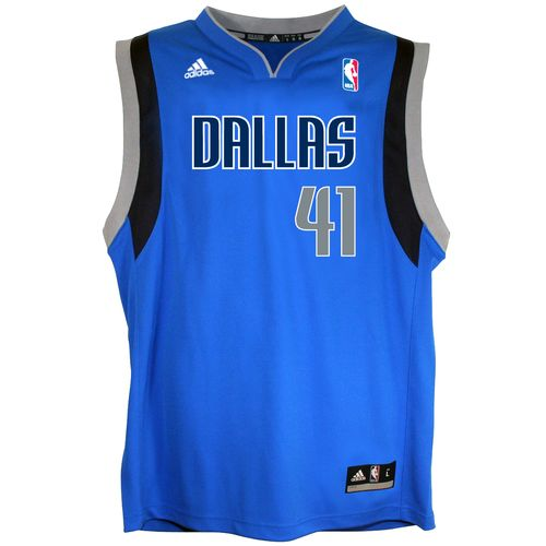 adidas™ Boys' Dallas Mavericks Dirk Nowitzki #41 Revolution 30 Replica Road Jersey