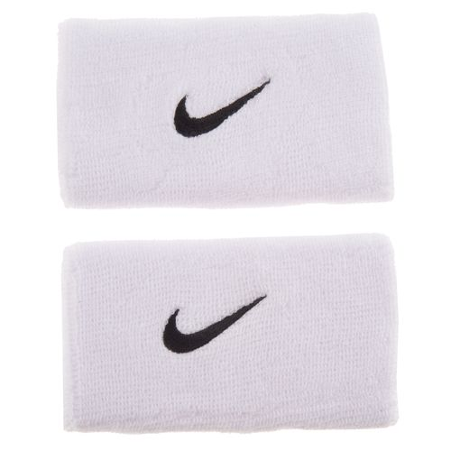 Image for Nike Adults' Swoosh Double-Wide Wristbands from Academy