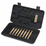 ProMag Brass Hammer and 14-Piece Punch Set with Fitted Polymer Box