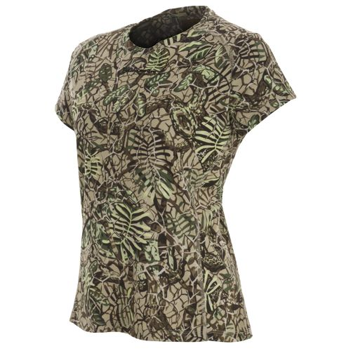 Brush Country Camouflage Women's Allover Camo Short Sleeve Pocket T-shirt