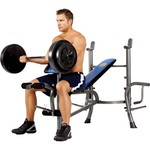 Marcy Standard Weight Bench with 80 lb. Weight Set - view number 1