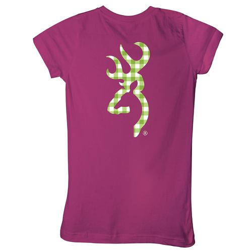 Browning Women's Gingham Buckmark T-shirt