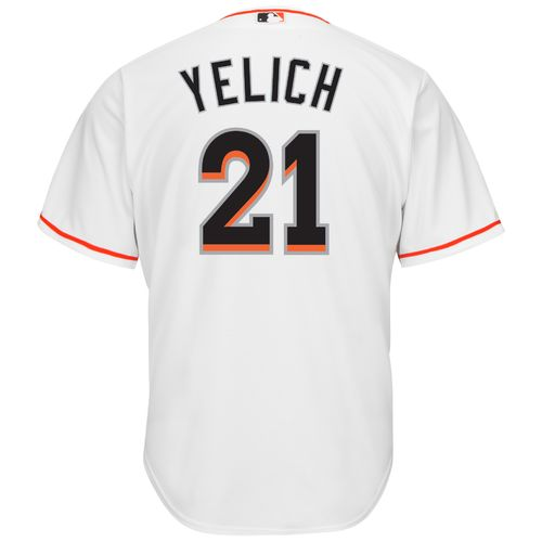 Majestic Men's Miami Marlins Christian Yelich #21 Cool Base® Home Jersey