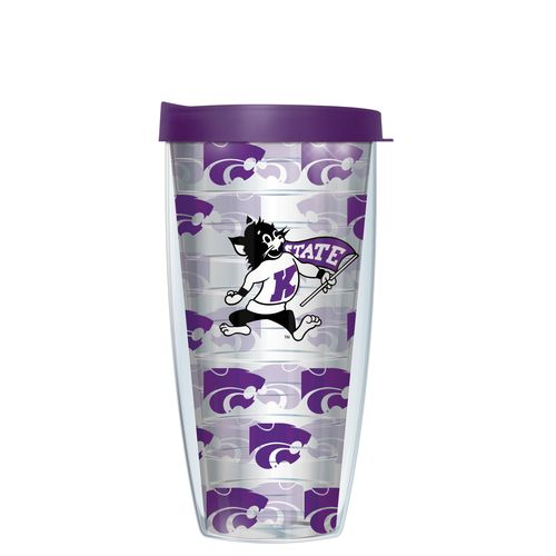 Signature Tumblers Kansas State University 16 oz. Repeated Pattern Traveler Insulated Tumbler