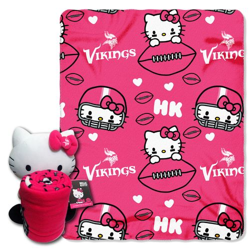 The Northwest Company Minnesota Vikings Hello Kitty Hugger and Fleece Throw Set