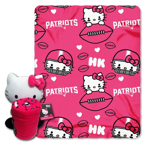 The Northwest Company New England Patriots Hello Kitty Hugger and Fleece Throw Set