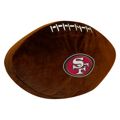 The Northwest Company San Francisco 49ers Football Shaped Plush Pillow - view number 1