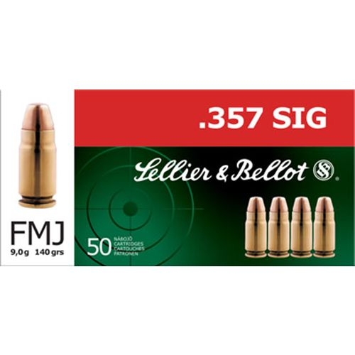 Sellier & Bellot .357 Sig Sauer 140-Grain Full Metal Jacket Centerfire Handgun Ammunition