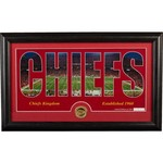 The Highland Mint Kansas City Chiefs Silhouette Bronze Coin Panoramic Photo Mint