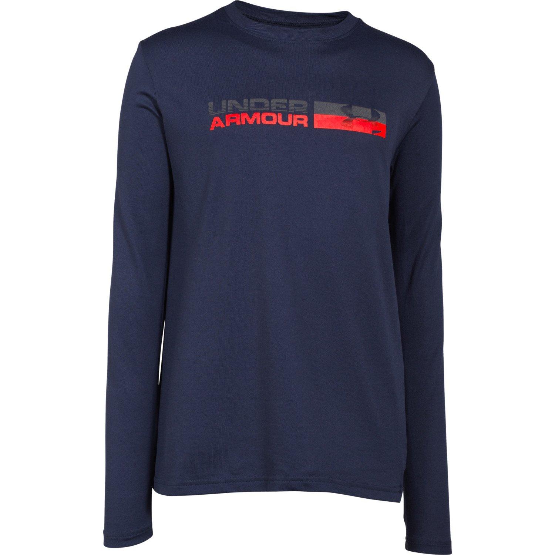 Under Armour Boys 39 Back Stroke Long Sleeve T Shirt Academy