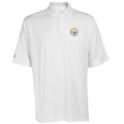 Antigua Men's Pittsburgh Steelers Exceed Polo Shirt
