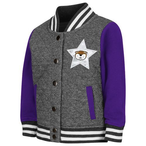 Colosseum Athletics Toddler Girls' Louisiana State University Sparkle Bomber Jacket