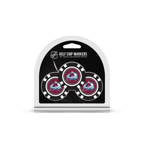 Team Golf Colorado Avalanche Poker Chip and Golf Ball Marker Set - view number 1
