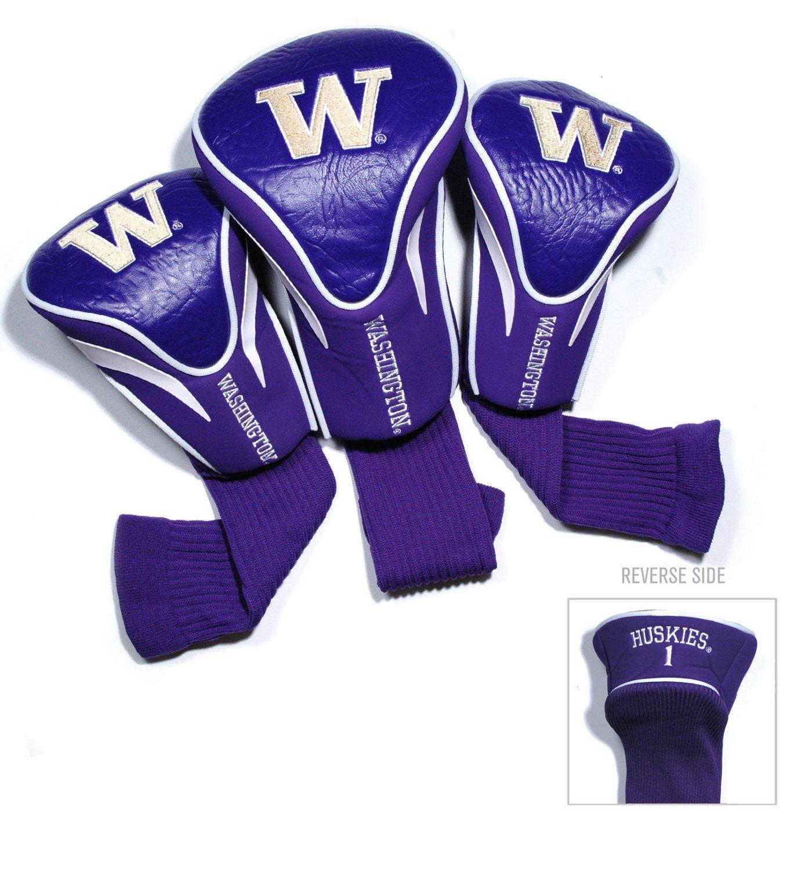 Team Golf University of Washington Contour Sock Head Covers 3-Pack