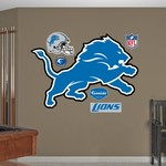 Fathead Detroit Lions Real Big Team Logo Decal